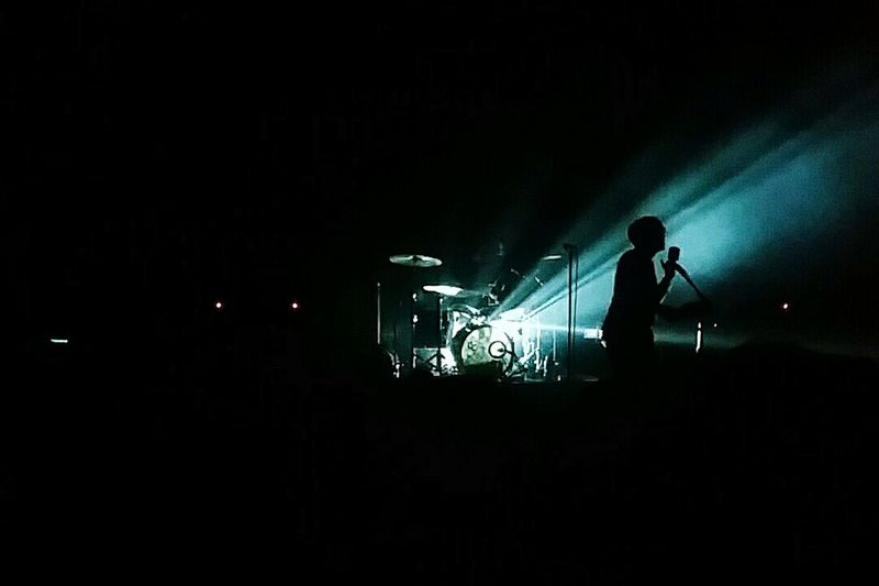 Seeing Young the Giant live: check Young The Giant Bands Concert Live Performance Shadow Silhouette Singer  Contrast Musician Lead Singer Concert Photography