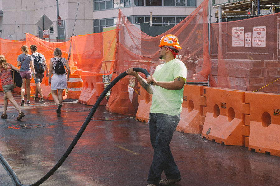 Brooklyn Construction Hose Lifestyle NYC Photography People Pipe Real People Urban VSCO Working