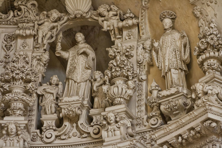 Barocco leccese Architecture Art And Craft Barocco Architecture Barocco Leccese Baroque Baroque Style Bas Relief Close-up Day History Human Representation Male Likeness No People Outdoors Sculpture Statue Travel Destinations
