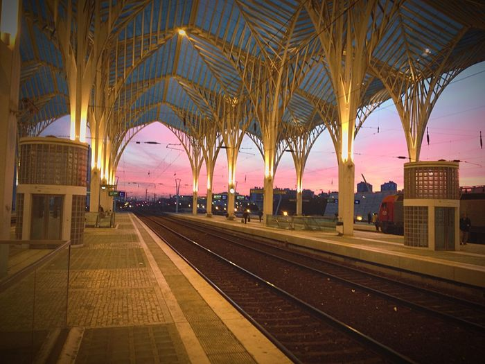 Oriente train station, Lisbon, Portugal.