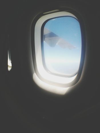AirPlane ✈ From An Airplane Window That View Sky And Clouds