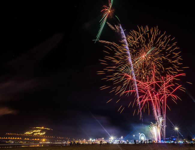 2017 New Year Agadir Morocco Celebration Event Exploding Feux D'artifice Firework - Man Made Object Firework Display Long Exposure New Year Night No People Outdoors Sky Slow Shutter