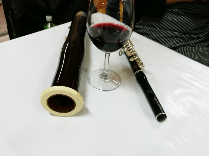Flute Fluteplayer Flöte Flauta Piccolo Bassoon Wine No People Wineglass Fountain Pen Close-up Indoors  Day