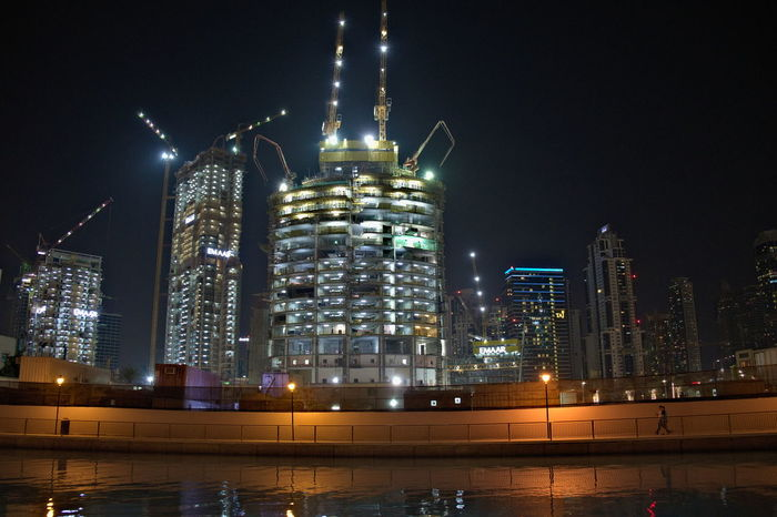 Construction Construction Site Night Photography Nightphotography Travel Travel Photography Walking Around Architecture Building Building Exterior Built Structure City Cityscape Handheld Illuminated Modern Night Outdoors Pathway Skyscraper Travel Destinations Urban Skyline Colour Your Horizn HUAWEI Photo Award: After Dark