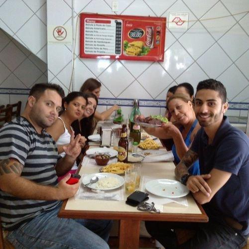 Almoço com o pessoal da firma Equiperarusflats