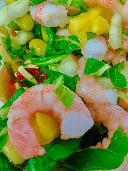 Prawns Food And Drink Food Freshness Close-up Full Frame Indoors  Ready-to-eat Indulgence Meal Appetizer Serving Size Garnished Salad Prawn Salad