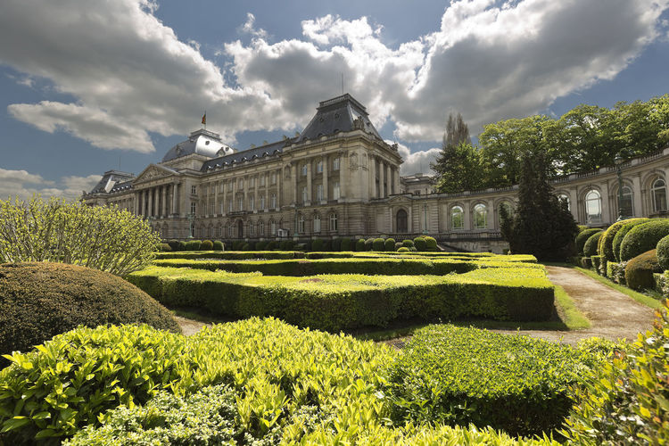 Views of the royal palace with its gardens in Brussels capital of Belgium. Architecture Belgium Brussels City Square Travel Architectural Detail Architectural Photography Architecture Building Building Exterior Built Structure Cloud - Sky Garden Gardens Gerden History History Architecture Monument Royal Royal Palace Royal Palace Brussels Tourism Tourism Destination Travel Destinations