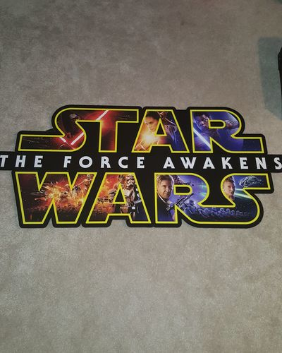 Star Wars cutout scored from an unnamed source. Star Wars Star Wars The Force Awakens The Force Awakens First Post First Eyeem Photo