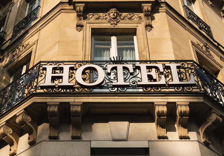 hotel sign Architecture Business Entrance Façade France Holiday Light Luxery Paris Reception Service Sign Balcony Commercial Communication Europe Hotel Journey Marketing Motel Resort Summer Tourism Vacation Welcome