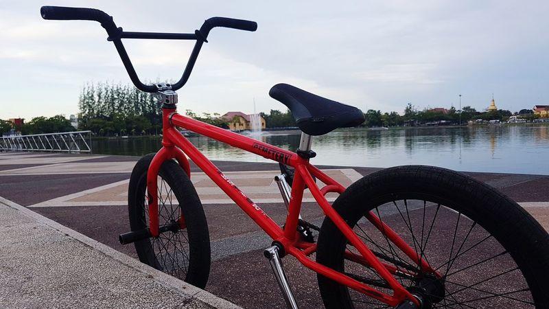 Bike Bikesaroundtheworld Bike Ride In Morning Exercise Time Sky Water