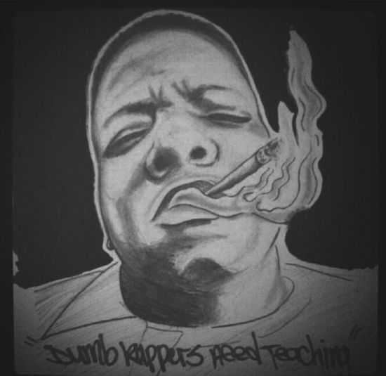Drawing I did of one of the dopest lyricist..Drawing Art Biggie Smalls HipHop