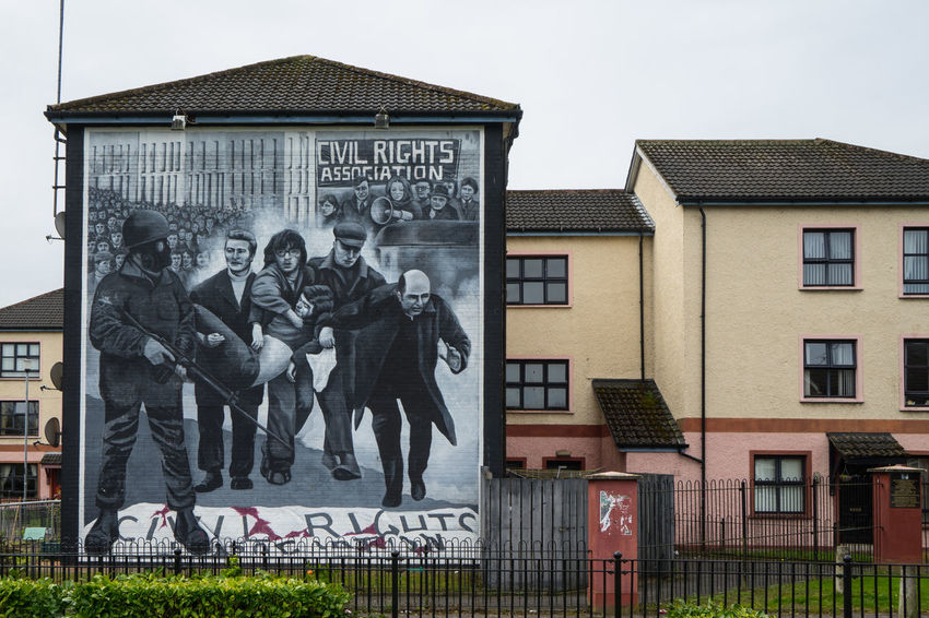 Architecture Building Exterior Built Structure City Civil Rights  Day Derry Free Freederry Freederrywall Ireland Irish Londonderry Mural Mural Art Murales No People Northern Ireland Outdoors Politics Sculpture Statue Text
