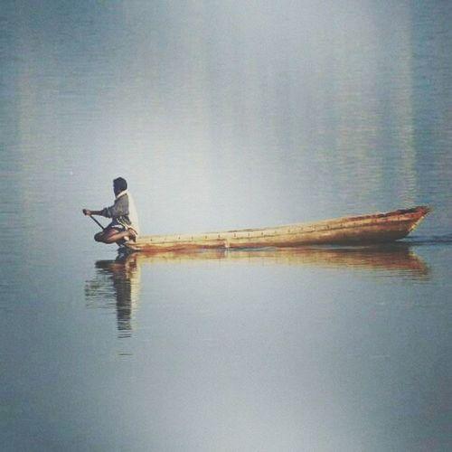 Reflection Water Day Outdoors Nature One Person People Catamaranboat Fisherman Eyem Gallery Eyem Best Shots EyEmNewHere