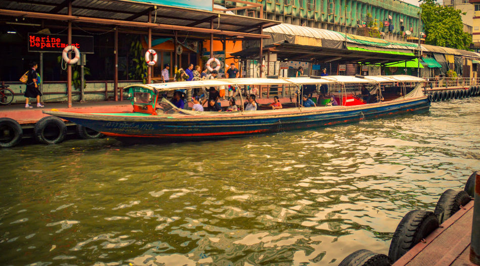 Nautical Vessel Group Of People Tourism Water Transportation People Large Group Of People Adult Outdoors Day Adults Only Traditional Thai Long Boat Klong Bangkok Thailand Boat Taxi Leisure Activity Lifestyle Travel Thailand Pratunam Pier The Street Photographer - 2017 EyeEm Awards