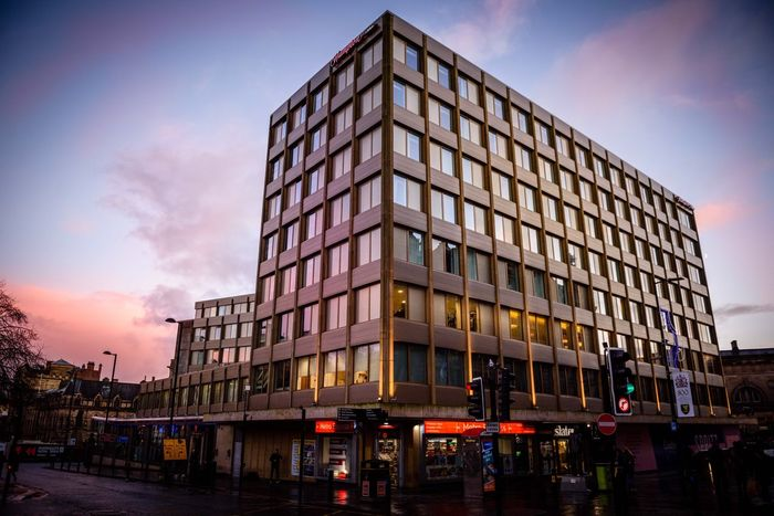 Sky Building Exterior City Sunset Cloud - Sky Outdoors Eye4photography  EyeEmBestPics EyeEm Gallery Clouds And Sky Newcastle Upon Tyne Architecture Modern Sunset_collection Architecturelovers Hotel City Life Cityscapes England Clouds Built Structure Real People Illuminated Day