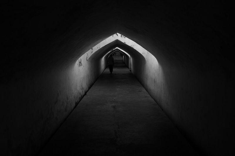 Corridor in tunnel
