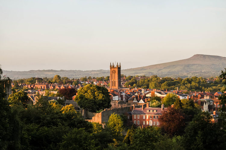 Ludlow, Shropshire from Whitcliffe. Britain Church Clear Sky Clee Hill Country Country Life Countryside England Golden Hour Landscape Landscapes Ludlow Medevil Town Shropshire Sun Sunset Sunshine Town Town And Country Tree Uk United Kingdom Whitcliffe