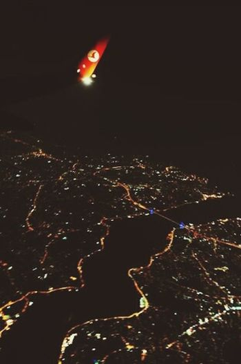 Turkish Airlines <3 istanbul city From An Airplane Window From A Plane Window