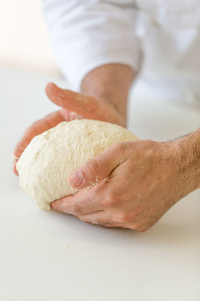 Adult Baker Bakery Bread Chef Close-up Dough Flour Food Fresh Fresh Bread Handmade Hands Healthy Eating Healthy Food Ingredient Kneading Making One Person Pastry People Pizza Pizza Time Preparation  Raw Food Stories