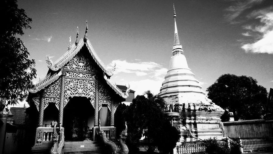 Architecture Religion Spirituality Sky No People City Day Chiang Mai Thailand🇹🇭 ตะลุยเดี่ยวแบกเป้เที่ยว