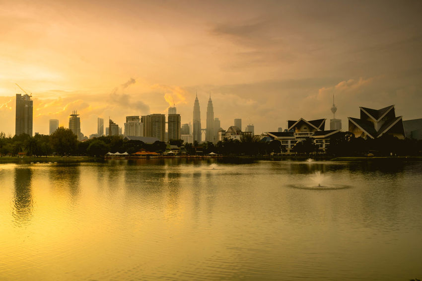 dusk til dawn Kuala Lumpur Reflection Silhouette Architecture Beauty In Nature Building Exterior Built Structure Cityscape Klcc Malaysia Modern No People Reflection Reflection_collection Sky Skyscraper Sunrise Sunrise_sunsets_aroundworld Sunset Travel Destinations Water Waterfront