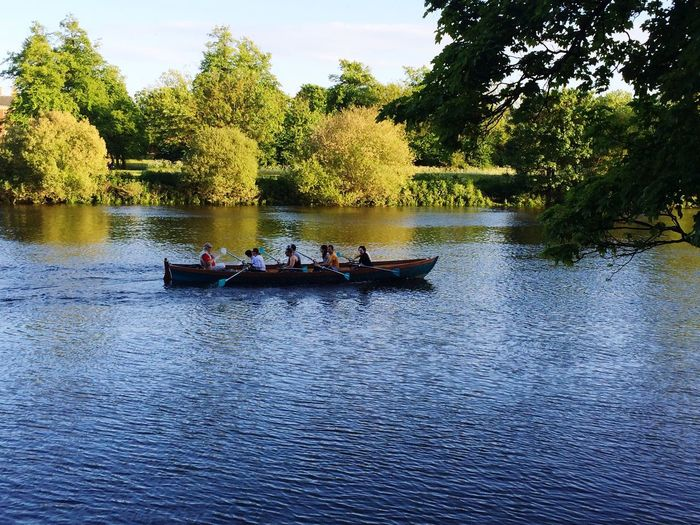 Richmond Riverside Rowing Boat Shine Summertime London