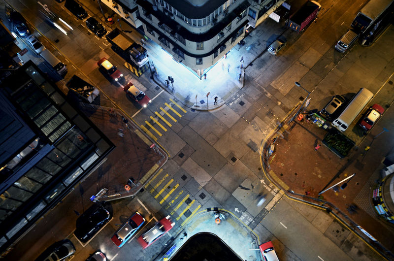 Cross Road, Looking from the top of a building Architecture Building Building Exterior Built Structure Capital Cities  Car City City Life City Street Crossroad Day Diminishing Perspective Elevated View Illuminated Modern No People Outdoors Rofftop The Way Forward Tilt Traffic Travel Destinations