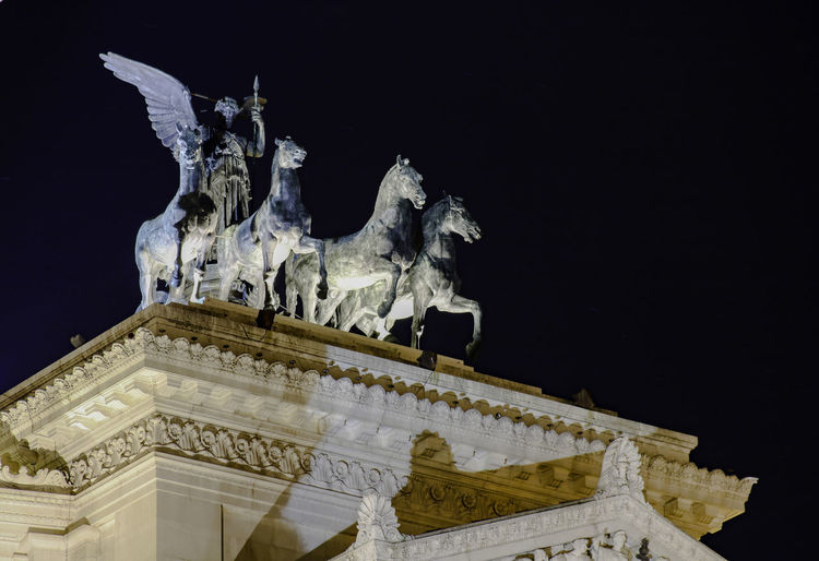City Night Photography Nightphotography Rom Roma Rome Architecture Art And Craft Building Exterior Craft Creativity History Long Exposure Longexposure Night Nightshot No People Representation Sculpture Sky Statue The Past Travel Travel Destinations Travelphotography