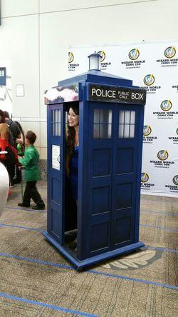 Tardis costume! Wizard World Sacramento 2015 Doctor Who