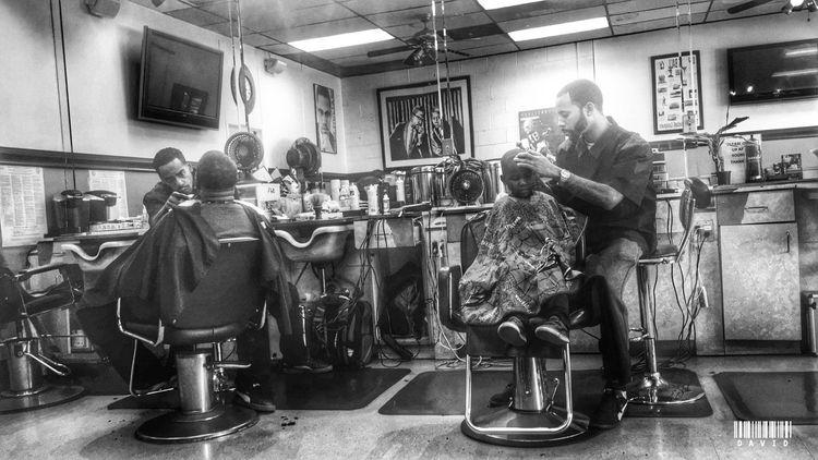 Getting Fresh Haircut People Barbershop Blackandwhite Urban Black And White Taking Photos Blackandwhite Photography