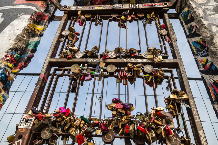 Architecture Building Exterior Built Structure Day Hanging Key Lock Locks Of Love Love ♥ Low Angle View No People Outdoors Symbol Symbol Of Love