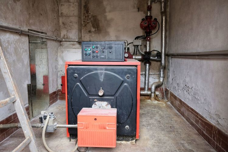 gas boiler room Room Tube Architecture Boiler Built Structure Condensing Connection Day Emergency Equipment Indoors  No People Old-fashioned Pipe - Tube System Technology Valves