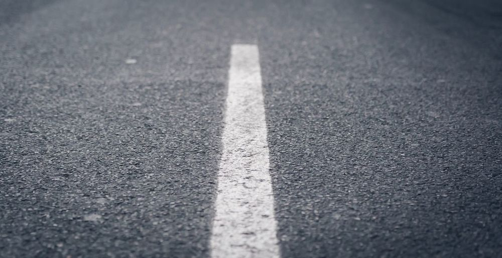 Asphalt Road Marking Road White Line Day No People Textured  Transportation Backgrounds Marking Outdoors Close-up LINE Streetphotography Street Photography Road