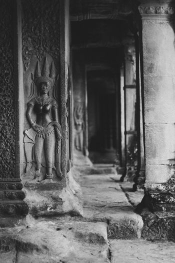 Angkor Architecture Art And Craft Built Structure Cambodia Day History Human Representation Indoors  No People Sculpture Statue