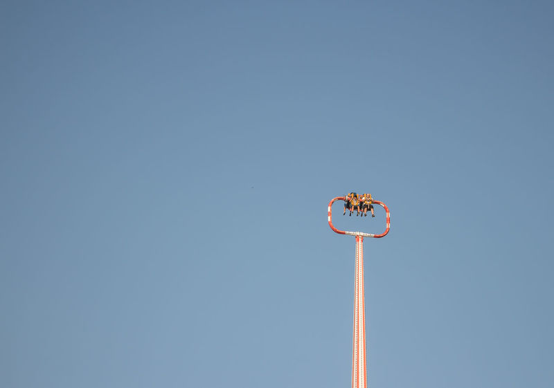 Amusement Park Amusement Park Ride Amusement Parks Arts Culture And Entertainment Blue Clear Sky Copy Space Day Low Angle View Nature No People Outdoors Sky Slingshot Done That.