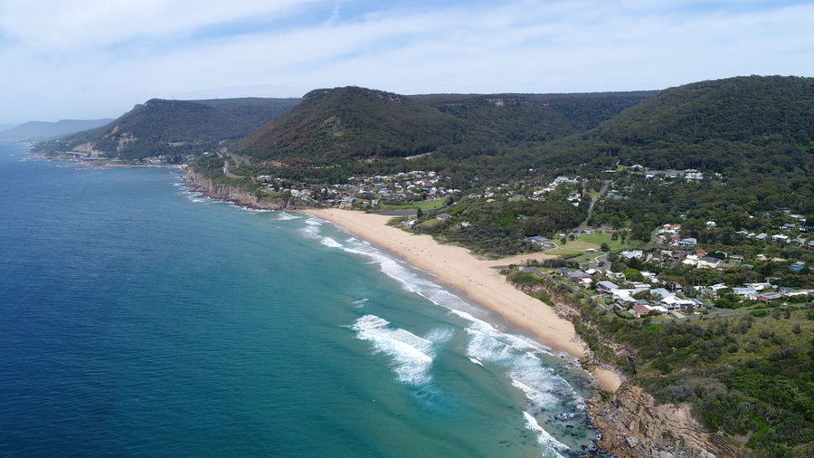 Stanwell Park, NSW, Australia Water Scenics - Nature Beauty In Nature Sea Mountain Sky Tranquil Scene Tranquility Land Nature Day Plant No People Tree Beach Idyllic Coastline Outdoors Mountain Range Turquoise Colored Dji DJI X Eyeem DJI Mavic Pro Dji Phantom Dji Spark