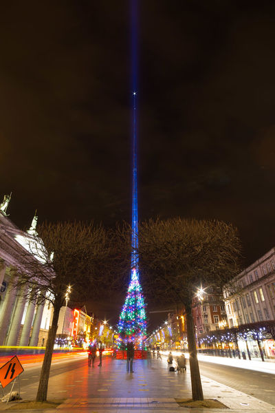 The Spire of Dublin, on O'Connell Street, lit up in blue to mark the premiere of Star Wars The Force Awakens. Dublin city, Ireland. Arts Culture And Entertainment Dublin Dublin, Ireland Illumination International Landmark Ireland Ireland🍀 Lights Lightsaber Night Night Lights O'connell Street Sculpture Skyscraper Spire  SpireOfDublin Star Wars Star Wars The Force Awakens Street Light Tall Tall - High Tower Urban Sculpture