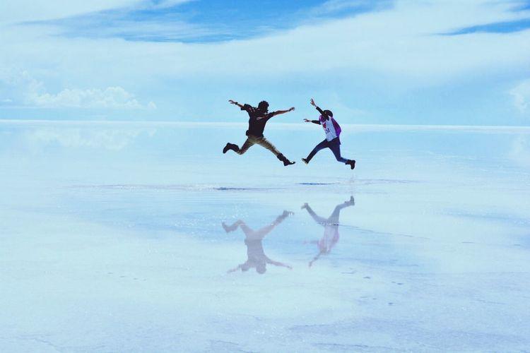 jump on the sky
