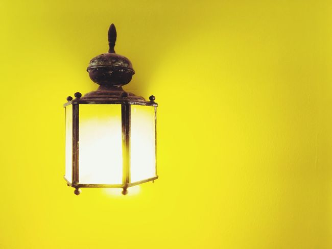 Indoor Lighting Indoor Light Light Antique Vintage Interior Yellow Wall Background Yellow Wall Electricity  Bright Vibrant Decoration Antique indoor lighting with yellow wall