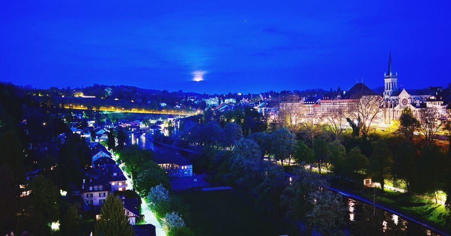 Bern Aare Night Lights Swissbeauty Night High Angle View Nightphotography Cityscape Switzerland Kornhausbrücke Cityscape Capital City Blue Hour From My Point Of View Travel Destinations Capital Cities  EyeEm Gallery My Hometown