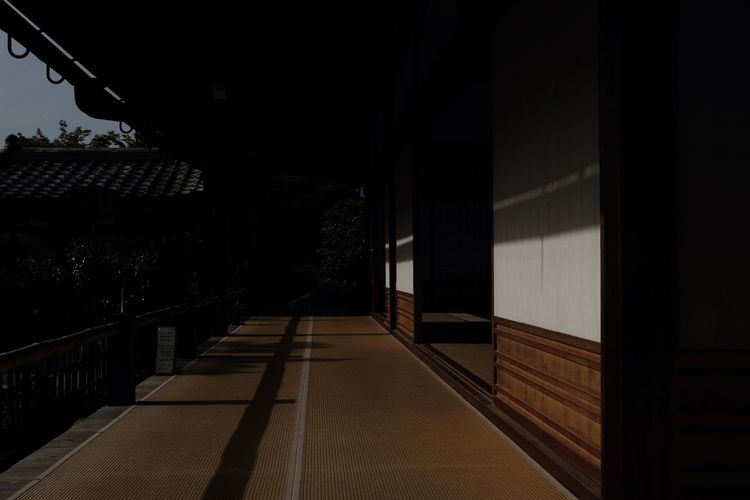 Absence Architecture Building Building Exterior Built Structure Dark Day Direction Empty Footpath House Nature No People Outdoors Shadow Sky Sunlight The Way Forward Wall - Building Feature