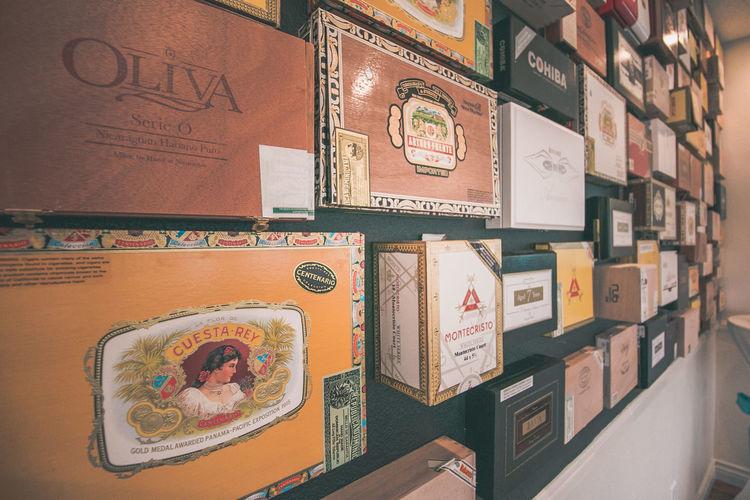 Cigar Box Cigar Inspired Cigar Wall Cigars Close-up Cuban Day Indoors  No People
