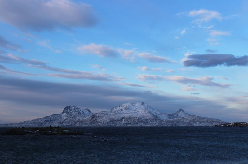 Winter in Bodø Sky Cloud - Sky Mountain Water Environment No People Scenics - Nature Nature Sea Landscape Tranquil Scene Snow Tranquility Beauty In Nature Cold Temperature Outdoors Blue Wilderness Snowcapped Mountain Mountain Peak Range Bodø Norway🇳🇴 Blue Sky And Clouds