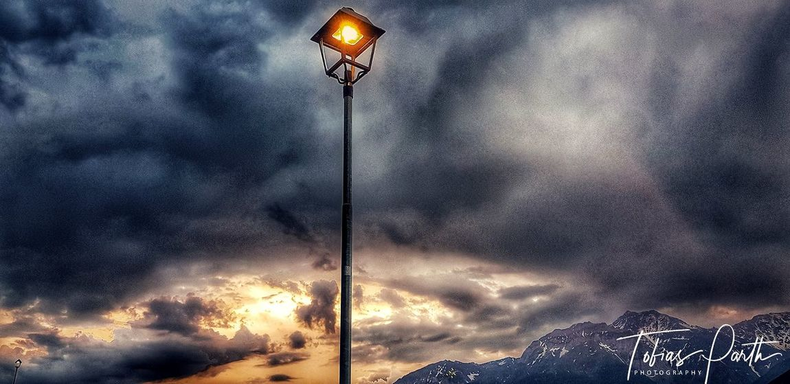 Illuminated Sunset Lighting Equipment Dramatic Sky Sky Cloud - Sky Street Light EyeEmNewHere
