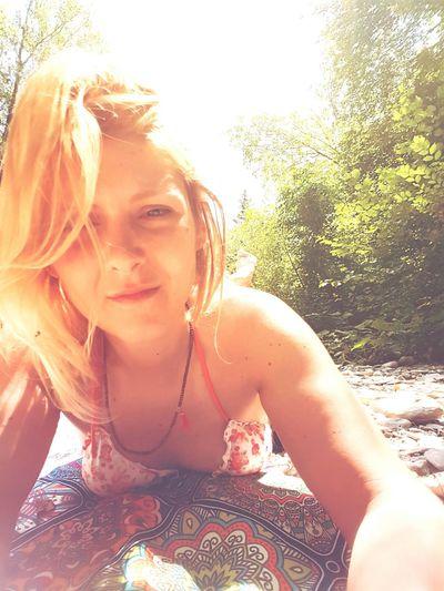 Nature Self Portrait Taking Photos Blond Hair Enjoying Life Hippy Selfie Model That's Me Italian Place Summer