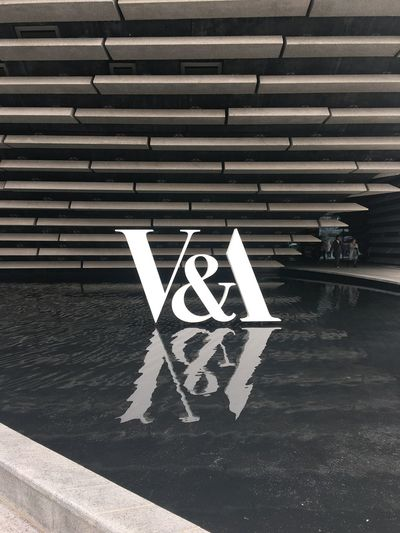 V&A Dundee Ampersand Letters Art Typography Sign Sign Symbol Communication Arrow Symbol Road Transportation Guidance Architecture Built Structure Outdoors Day