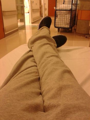 Posted up at the hospital.