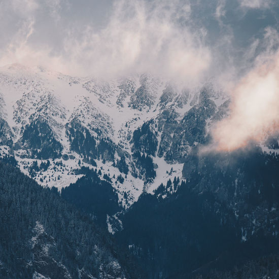 Landscape_Collection Misty Mountain View Beauty In Nature Cold Temperature Day Fog Foggy Foggy Morning Landscape Mist Mountain Mountain Peak Mountain Range Mountains Nature No People Outdoors Scenics Sky Snow Tranquil Scene Tranquility Weather Winter