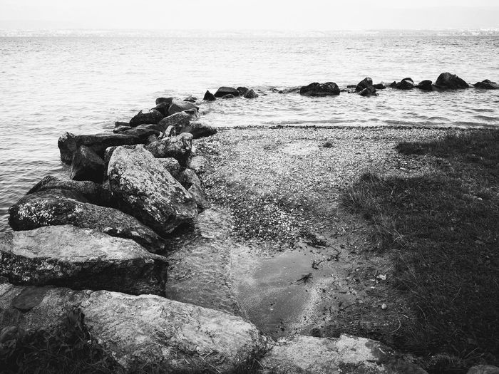 Water Sea Wave Beach Rock - Object Sand Sky Horizon Over Water