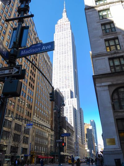 Empire State Building Madison Avenue Madison 34th Street  City Streetphotography Manhattan Picture